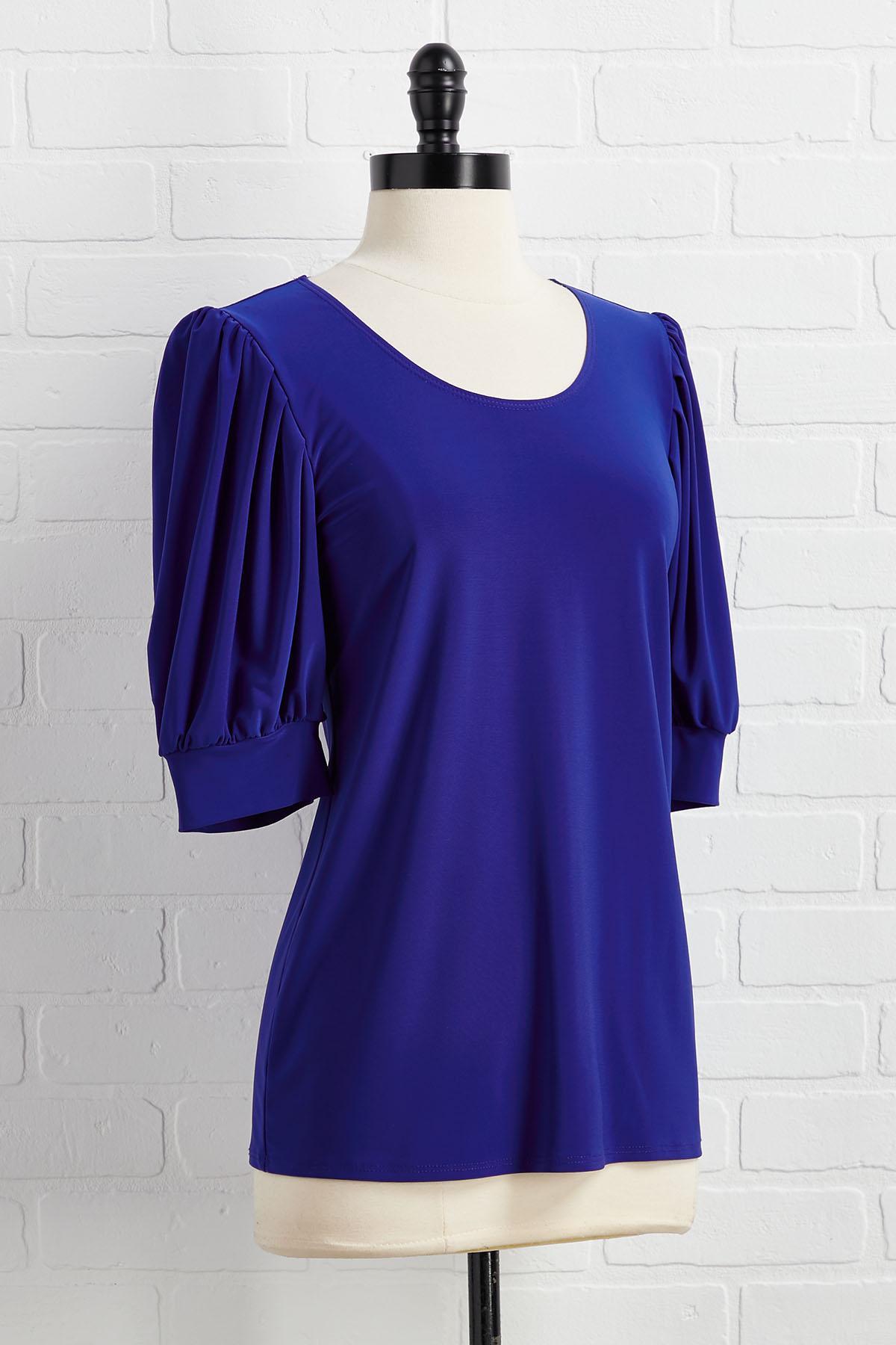 Blue Sleeve Baby Top