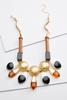 Wood And Resin Statement Necklace