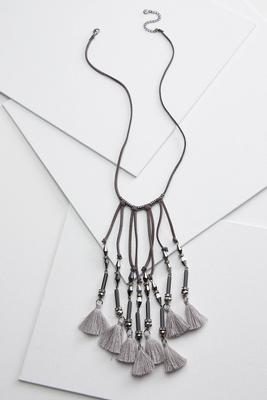 sassy suede necklace