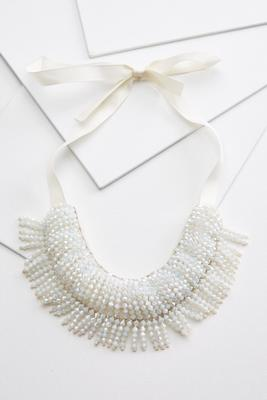 let`s be fringe necklace