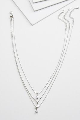 layered tear necklace
