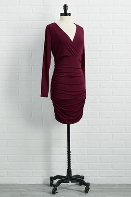 feeling ruched dress