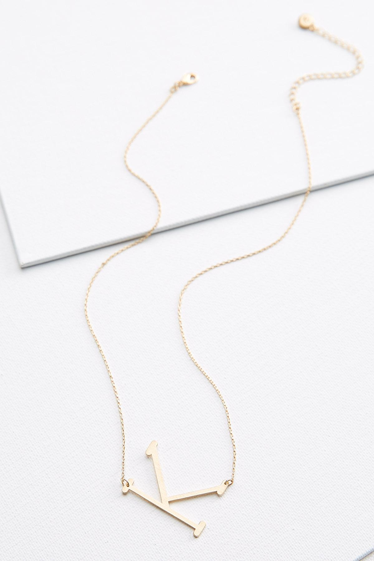 Large K Initial Necklace