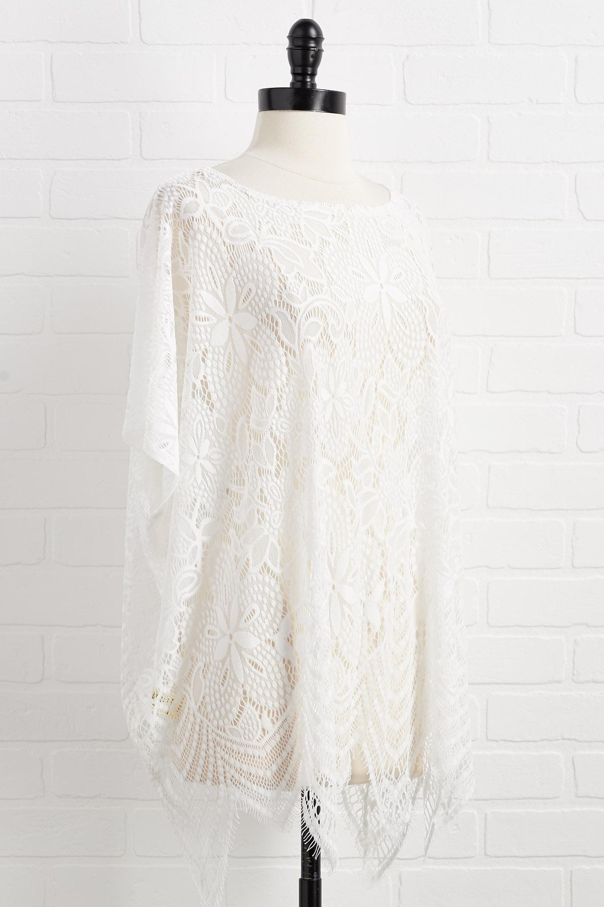 Lace Go To The Beach Coverup