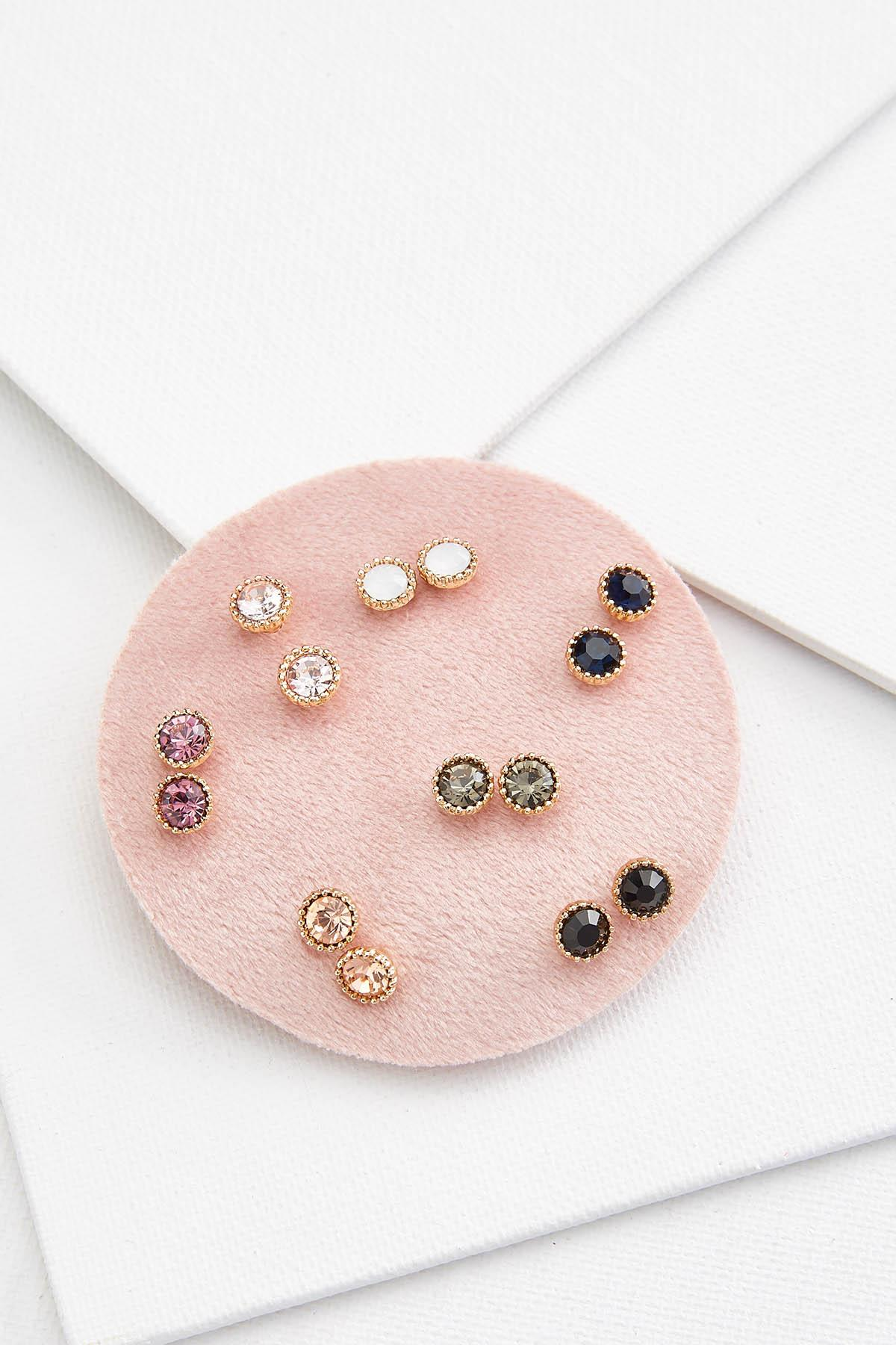 Circle Stud Earring Set