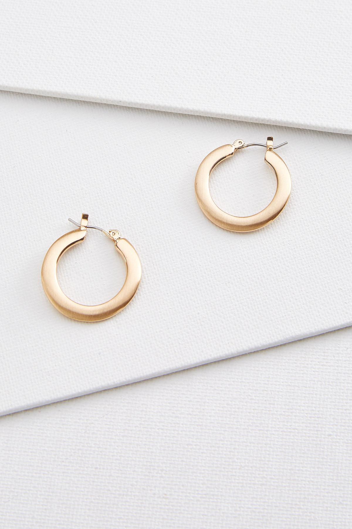 Mod Chunky Hoop Earrings