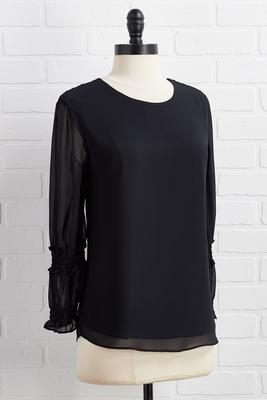 enough is cuff sleeve top
