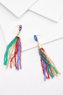 cue confetti earrings