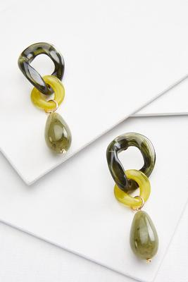 natural lucite earrings