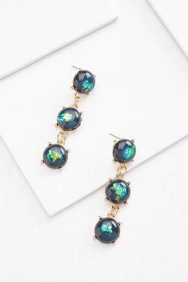 crackle gemstone earrings