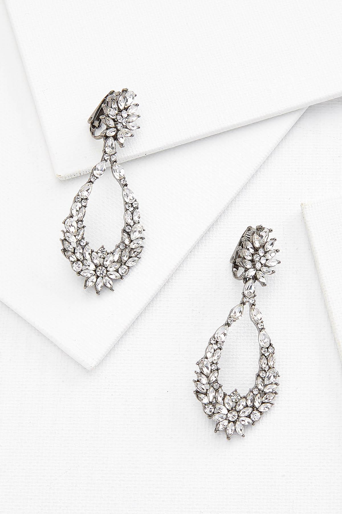Floral Cluster Clip Earring