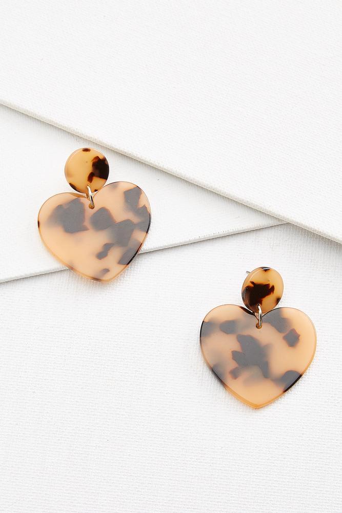 Lucite Heart Earrings