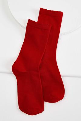 super soft ruffle trim socks