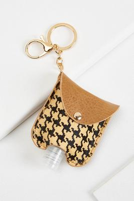 houndstooth sanitizer keychain