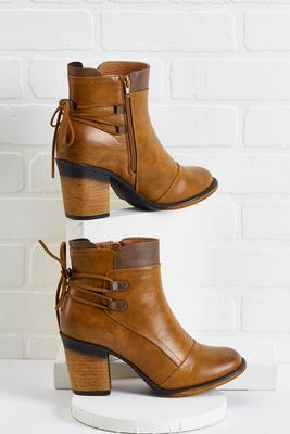 tie back western booties