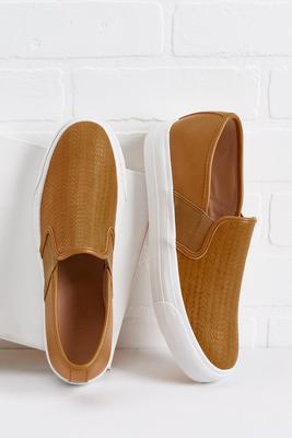 embossed platform sneakers