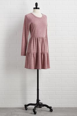 mauve over dress