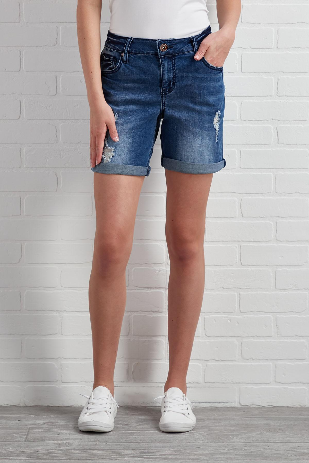 Do You Love Me Denim Shorts