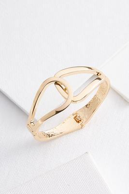 overlap metal bracelet