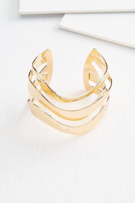wavy cuff bracelet