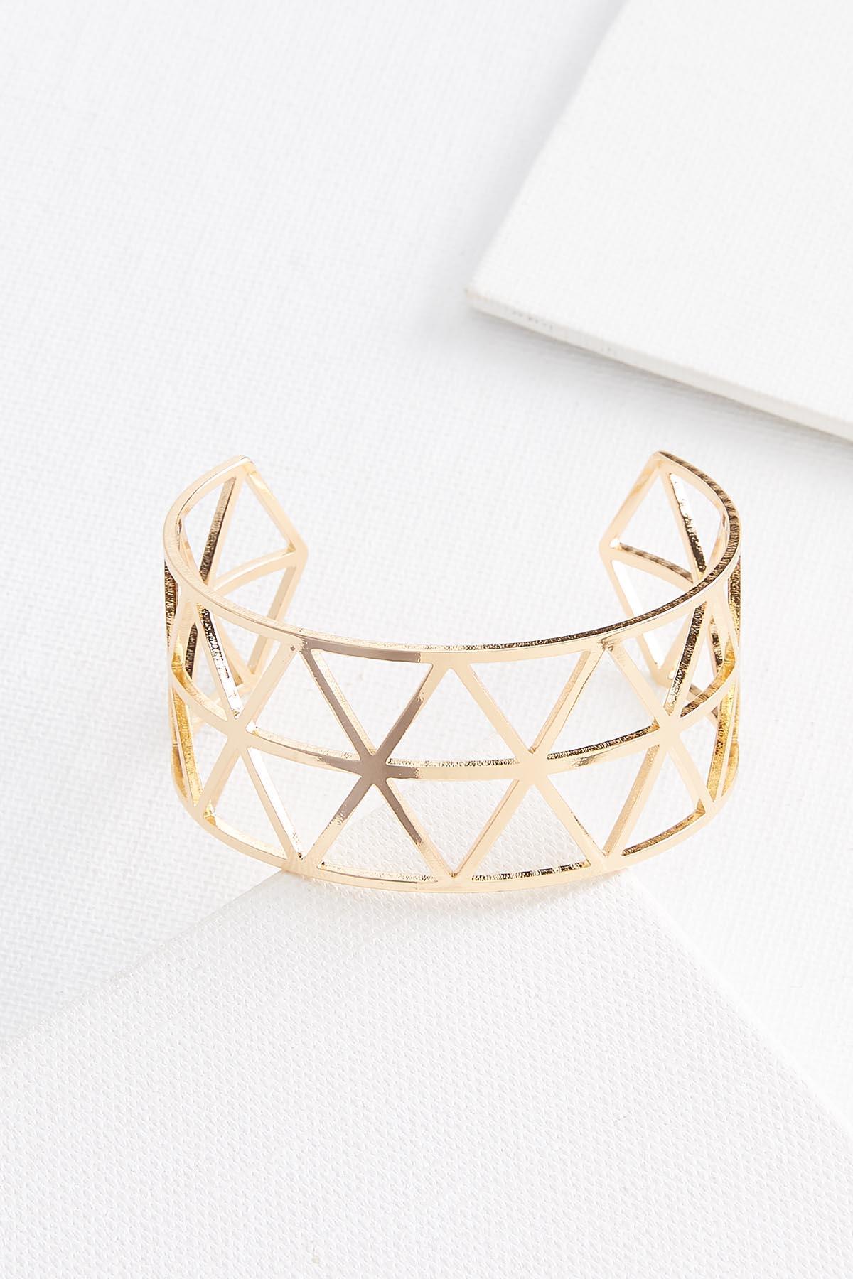 Metal Geo Cuff Bracelet