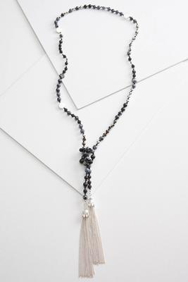 artisan tassel necklace