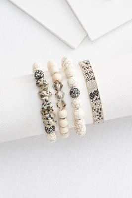 snakeskin bracelet set
