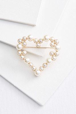pearl heart broach