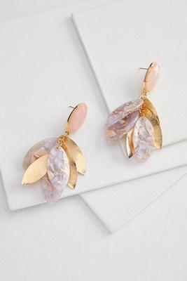 shaky petal cluster earrings