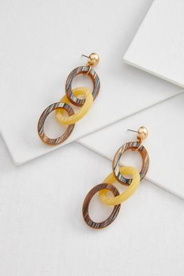 linear acrylic earrings