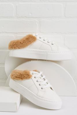 fur cuff sneakers