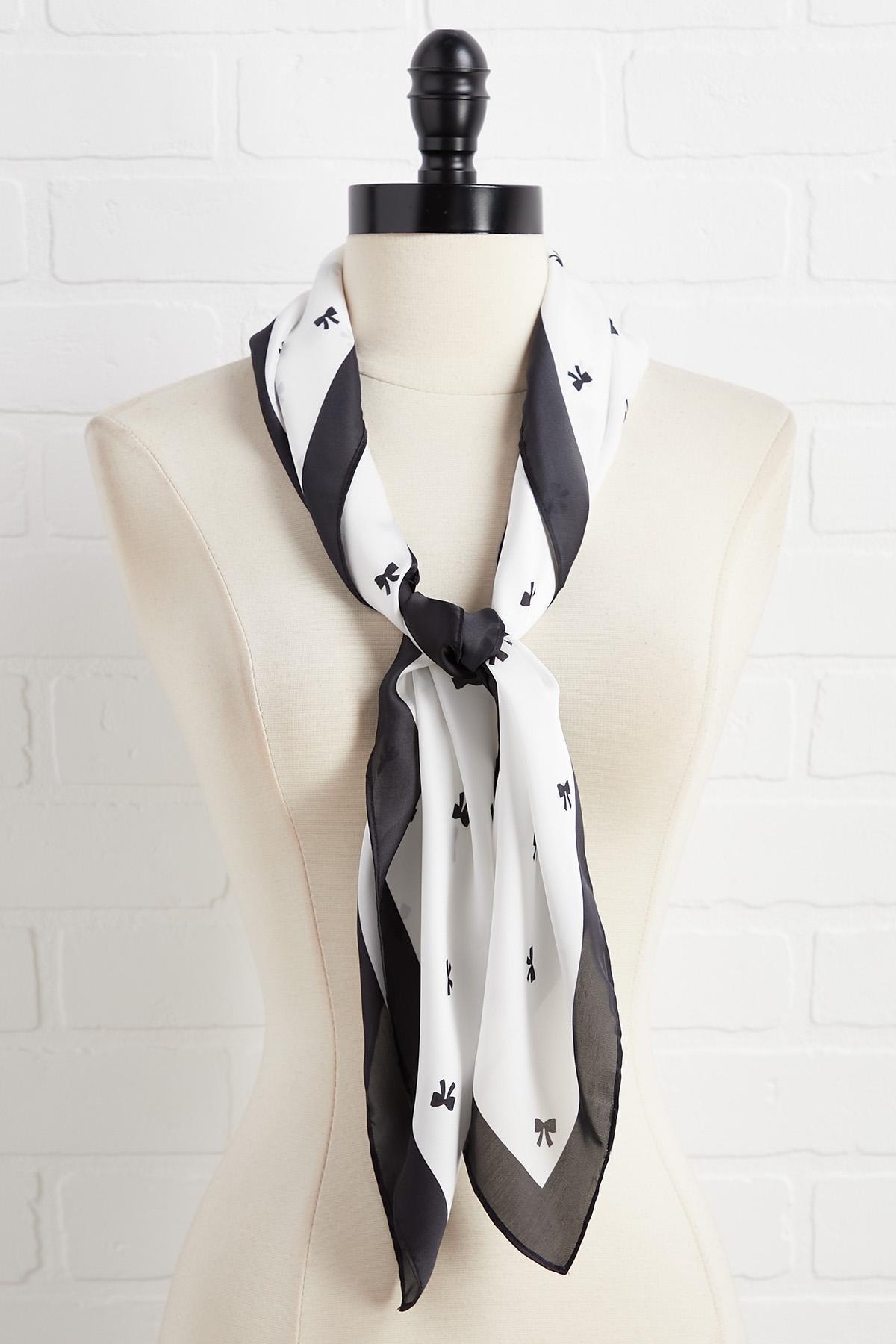 Black And White Bow Neckerchief