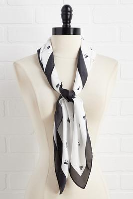 black and white bow neckerchief