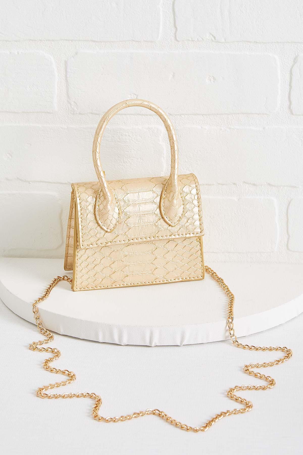 Micro Mini Gold Bag