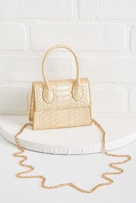 micro mini gold bag