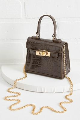 micro mini croco handbag