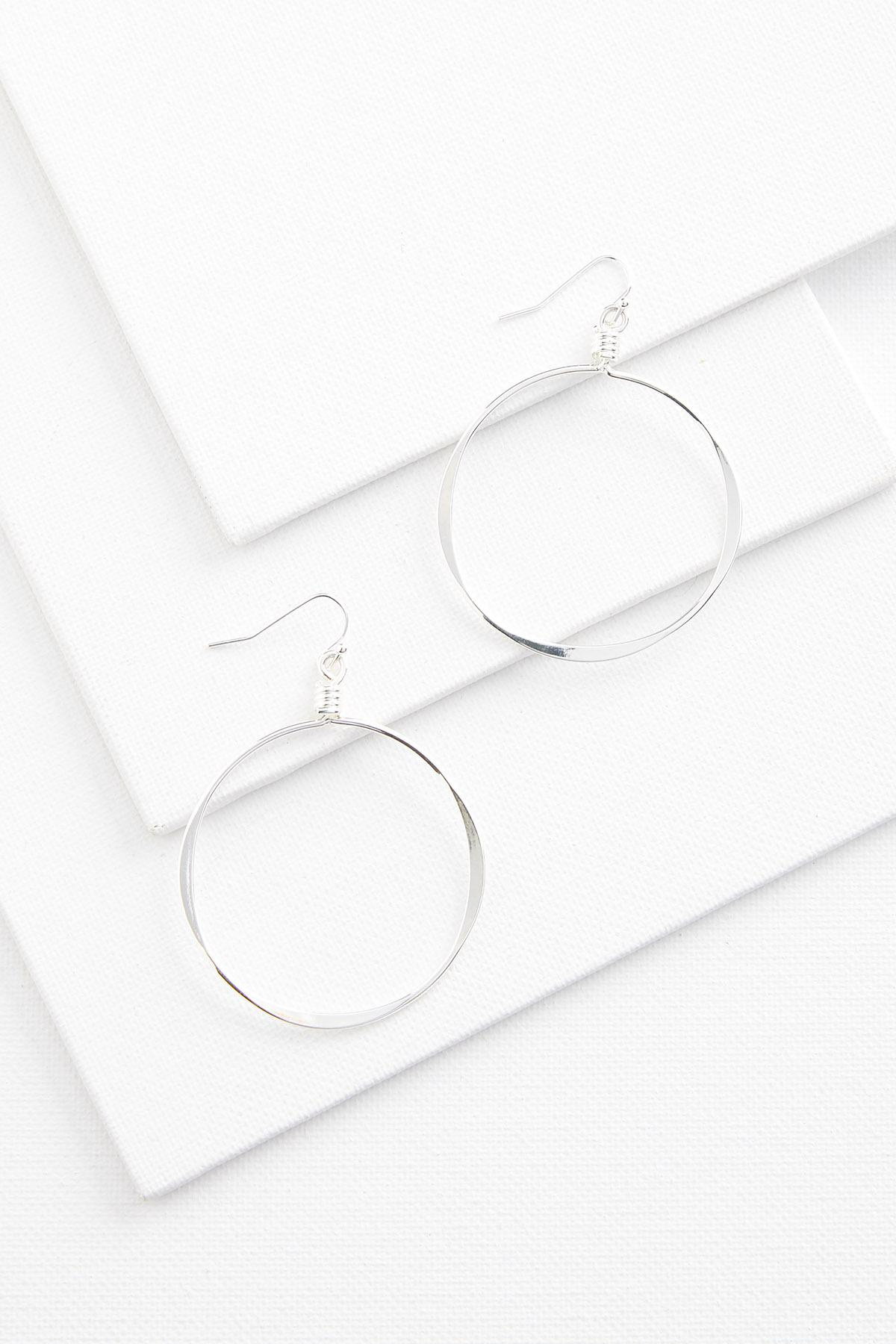 Skinny Metal Hoop Earrings