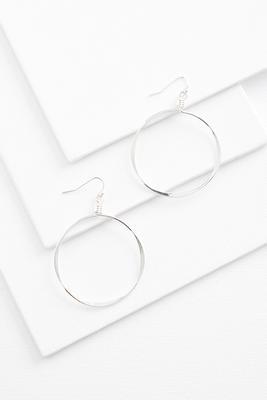 skinny metal hoop earrings