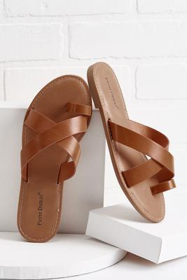 toe band slide sandals