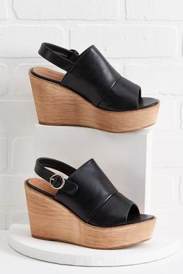 slingback platform wedge sandals