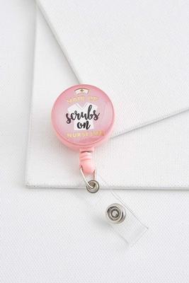 nurse life badge reel