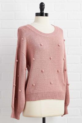 glass of rose sweater