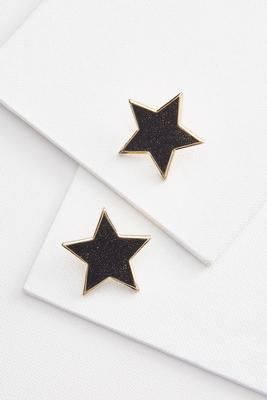 glitter star earrings