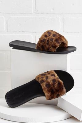 fur-tastic slide sandals