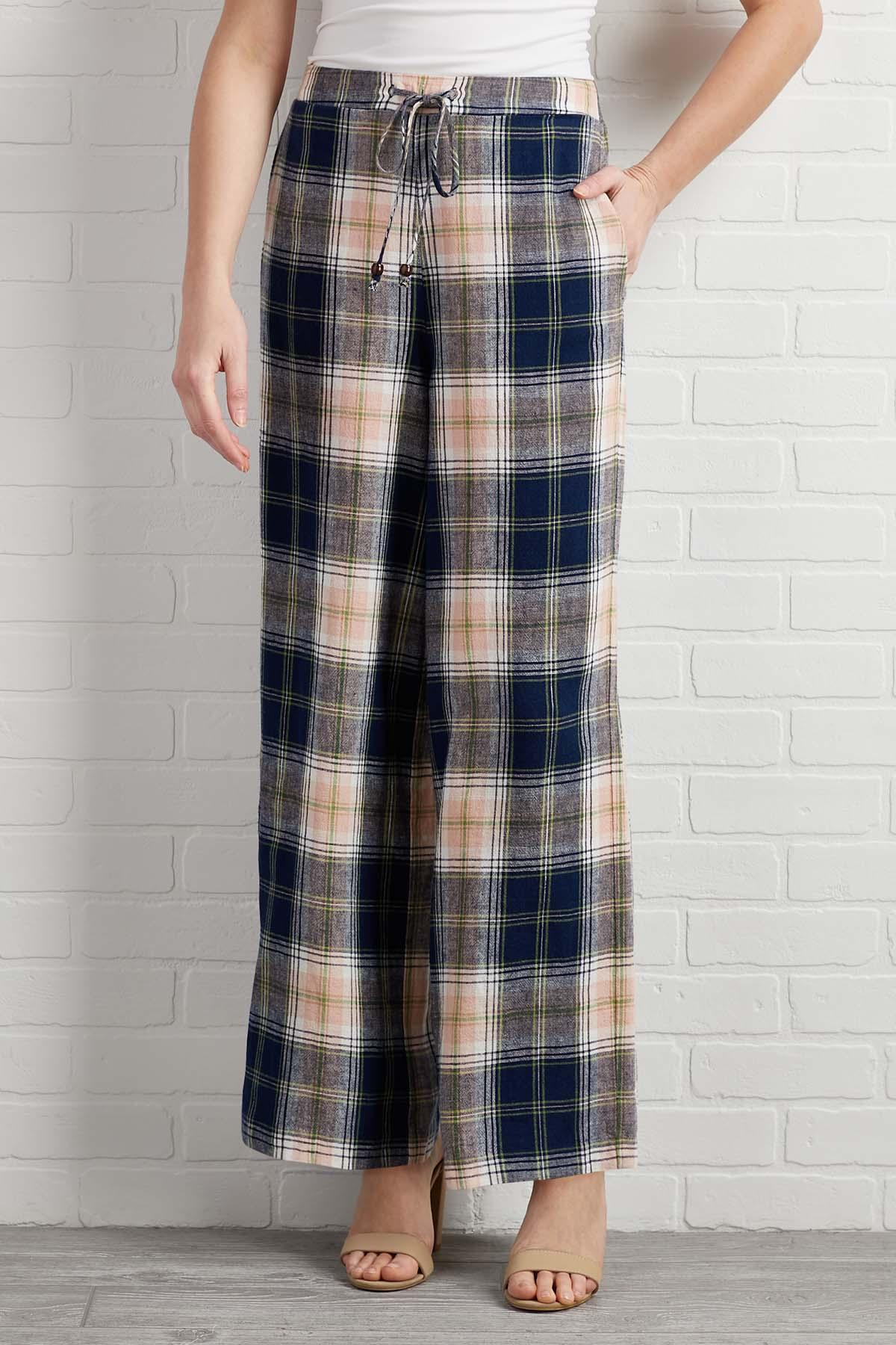 Plaid And Simple Pants