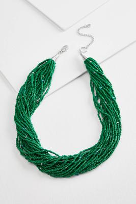 statement seed bead necklace