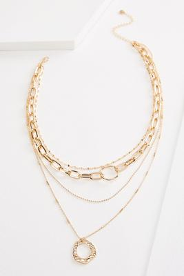 trendy chain layered necklace