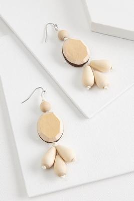 wooden cluster earrings