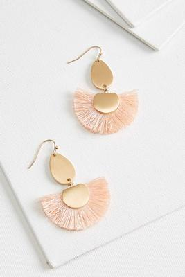 fringed fan earrings