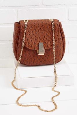 ostrich chain crossbody
